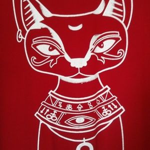 Coming soon! Large Egyptian Cat Maxi Dress Ankh